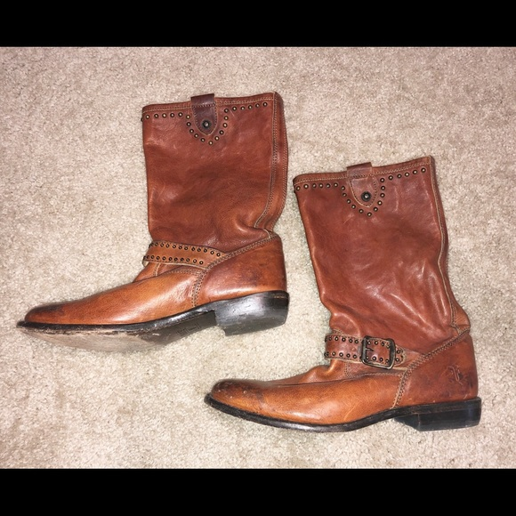 Frye Shoes - Frye Boots half calf Size 10 womens. Slip on